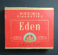 PAQUET DE CIGARETTES VIRGINIA EDEN NAVY CUT TOBACCO TABACS ANCIEN PACK OLD | eBay