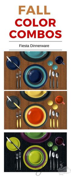 Fall color combo inspiration from Fiesta Dinnerware at www.alwaysfestive.com.