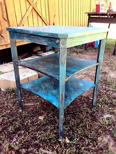 Refinished rustic and distressed nightstand
