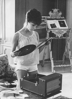 She left her record player behind when she went to college. I played Mary McCaba…