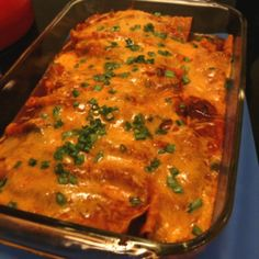 Pioneer Woman's Beef Enchiladas ~ Texan approved! Tried this last night and it was ah-mazing!