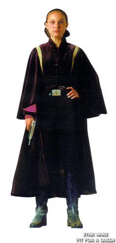 Star Wars - Episode I: The Phantom Menace - Padmé Amidala - Battle dress Amidala Star Wars, Star Wars Padme, Queen Amidala, Padme Costume, Costume Star Wars, Star Wars Characters, Star Wars Episodes, Sith, Starwars