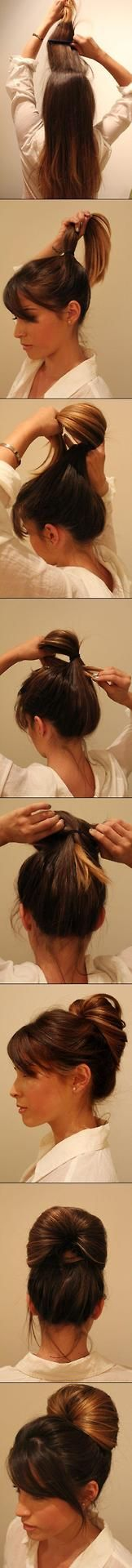 This is such a cute simple style that you can do before rushing out the door! If you have longer hair like me it might take a bit of practice first though.