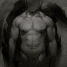Lunchtime Torso Study, Aaron Griffin on ArtStation at… Guy Drawing, Life Drawing, Anatomy Reference, Drawing Reference, Aaron Griffin, Master Studies, Bar Art, Character Design References, Illustration