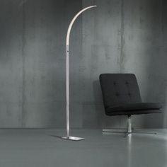 LUZ 682 LED FLOOR LAMP IN CHROME - WOFI