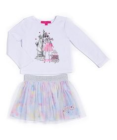 Loving this White New York Tee & Tutu Skirt - Kids on #zulily! #zulilyfinds