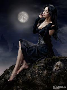 Beauty by the moon light, evil mans dream.
