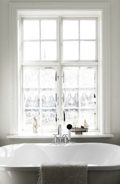 Bath is under the window as it should be