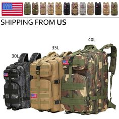 """30L/35L/40LOutdoor Shoulder Military Tactical Backpack Travel Camping Hiking Bag View """"30L/35L/40LOutdoor Shoulder Military Tactical Backpack Travel Camping Hiking Bag"""" on eBay Price: 20.99 Payments: Ends on : The post 30L/35L/40LOutdoor Shoulder Military Tactical Backpack Travel Camping … appeared first on BookCheapTravels.com."""