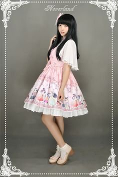 Neverland Lolita -Chinese Cats' Garden Party- Qi Lolita Cape + OP Set