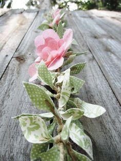 Tutorial guirnalda de flores de tela - Manualidades - Foro Bodas.net