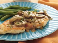 Dijon Chicken Smothered in Mushrooms - Betty Crocker's Diabetes Cookbook and their Heart Healthy Cookbook share this recipe!