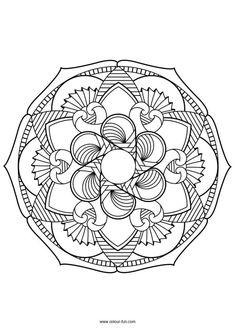 Flower Mandala Coloring page Mandala Coloring Pages, Colouring Pages, Adult Coloring Pages, Coloring Sheets, Coloring Books, Mandala Artwork, Mandala Drawing, Mandala Tattoo, Mandala Printable