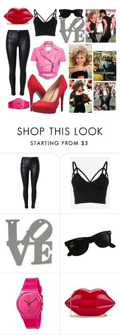 """""""You are the one!"""" by meli-vega ❤ liked on Polyvore featuring Ray-Ban, Moschino, Swatch, Lulu Guinness and Jessica Simpson"""