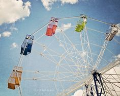 $80.00-11 X 14 Ferris Wheel photo canvas ready to hang by SusannahTucker on Etsy