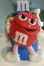M&M Red Green Yellow character cookie jar