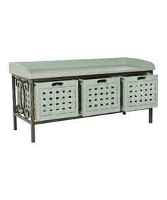 Another great find on #zulily! Medium Gray Gulliver Storage Bench #zulilyfinds