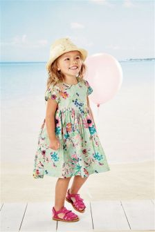 Mint Floral Dress (3mths-6yrs)
