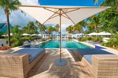 So much waiting for you at Valentines in Harbour Island, Bahamas. Like these pool loungers....