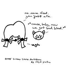 bad blood... #girls #cats #food #gimmefood #taylorswift #taylorswift1989 #badblood #comics #cartoons #cute