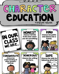 Character Education Posters for Elementary - In our class, we are - Reminders for students!