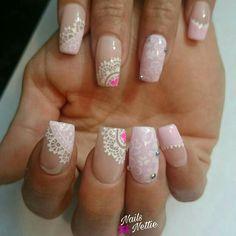 Lace Nails, Pink Nails, Erika, Pedicure, Nail Designs, Nail Art, Floral, Summer, Beauty