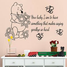Winnie The Pooh Swinging For Honey Giant Wall Decals RoomMates - Wall decals mumbai