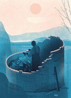 Science Of Scarcity – first part – editorial work by Vilnius, Lithuania based illustrator Karolis Strautniekas.