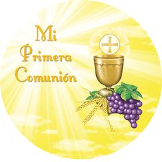 Fiestas Personalizadas Imprimibles: Imprimibles Gratis Primera Comunión Unisex Première Communion, First Holy Communion, Clock Printable, Christian Cards, Holi, Printables, Baby Shower, Scrapbook, Table Decorations