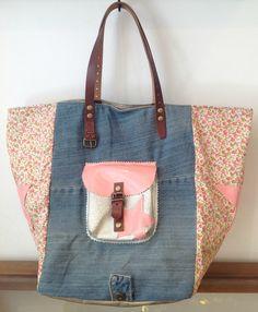 FullSizeRender (13) Denim Bag, Fabric Bags, Jeans Refashion, Cute Bags, My Bags, Purses And Handbags, Diaper Bag, Shoulder Bag, Denim Tote Bags
