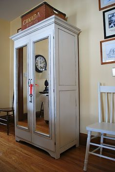Painted armoire makeover