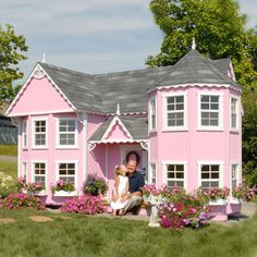 Little Cottage Sara Victorian 8 x 16 Mansion Wood Playhouse - Outdoor Playhouses at Play Houses