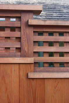 Backyard Privacy, Backyard Retreat, Backyard Fences, Wooden Garden Gate, Garden Gates And Fencing, Fence Gate, House Fence Design, Modern Fence Design, Japanese Home Design