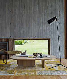 Coffee table / oval / contemporary / oak - TOBI-ISHI - B&B Italia