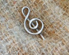 Palillo del pelo de aluminio clave de sol, chal Pin, Pin bufanda, titular de Bun, perno de pelo, joyas de la música, músico, mujer, tejer, accesorios del pelo largo