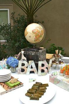Around the World baby shower theme