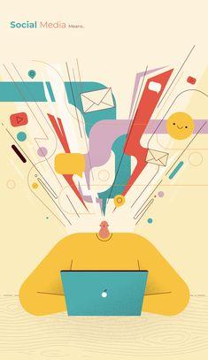 Flat Illustration, Digital Illustration, Business Illustration, Banner Design, Character Design, Behance, Graphic Design, Projects, Cool Ideas
