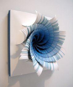 Color Portals: Paper Sculptures by Jen Stark | Creative Fluff Design Blog and Art Magazine  Super cool paper art