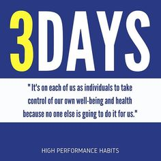 Time flies. Learn to be intentional with your life and take control of your well being. #highperformancehabits click the link in my bio.