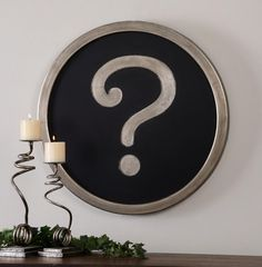Question Mark Wall Art : 9LV08 | Bright Light Design Center