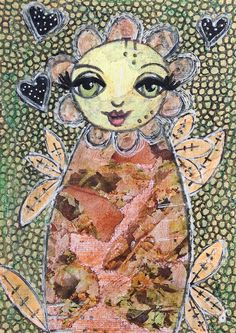 ACEO Whimsical Art Original Painting Forest by CuriousArtOfMadameJ