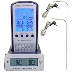 Misting Fans - Jarsant Wireless Remote Digital Cooking BBQ Meat Thermometer with Dual Probe for Smoker Grill Oven -- Click on the image for additional details. (This is an Amazon affiliate link)
