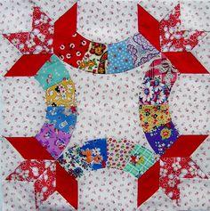 Friendship Knot quilt block~ super cute!