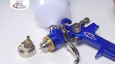 verniciare a spruzzo con compressore - YouTube