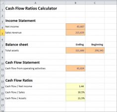 how to find operating cash flow