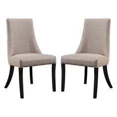 Forget those big, burly dining chairs that feel as stuffy and off-putting as they look - and enter the Modway Reverie Dining Side Chair - Set of. Solid Wood Dining Chairs, Upholstered Dining Chairs, Dining Chair Set, Dining Room Chairs, Side Chairs, Chair Upholstery, Bar Chairs, Modern Chairs, Modern Furniture