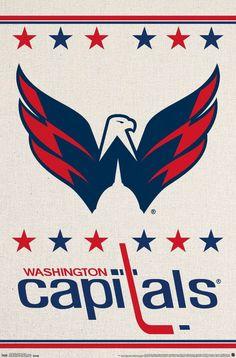 International Washington Capitals - Logo Wall Poster - x in.Trends International Washington Capitals - Logo Wall Poster - x in. Nhl Hockey Teams, Hockey Logos, Sports Team Logos, Nhl Logos, Sports Teams, Washington Capitals Logo, Washington Redskins, Poster Wall, Poster Prints