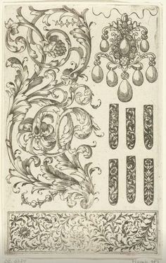 Negen ornamenten, Daniel de Lafeuille, Anonymous, c. 1600 - c. 1699 _https://www.rijksmuseum.nl/en/collection/RP-P-OB-6324