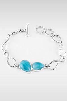 Larimarket - MarahLago Cara Collection Larimar Bracelet with White Sapphires, $495.00 (http://www.larimarket.com/marahlago-cara-collection-larimar-bracelet-with-white-sapphires/)