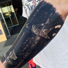 100 forearm sleeve tattoo designs for men - manly ink ideas Half Sleeve Tattoos For Guys, Half Sleeve Tattoos Designs, Forearm Sleeve Tattoos, Tattoo Designs Men, Basketball Tattoos, Basketball Shoes, Blackout Tattoo, Tattoo Design Drawings, Tattoo Ideas